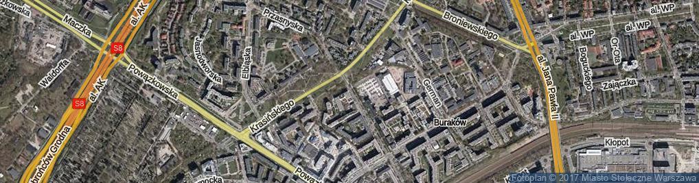 Zdjęcie satelitarne Przasnyska ul.