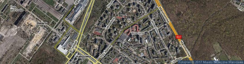 Zdjęcie satelitarne Przy Agorze ul.