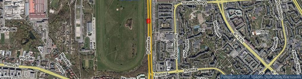 Zdjęcie satelitarne Puławska