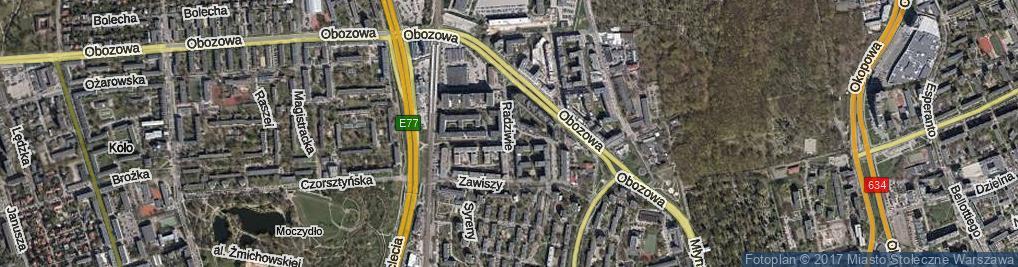 Zdjęcie satelitarne Radziwie