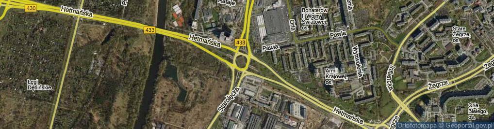 Zdjęcie satelitarne Rondo Starołęka