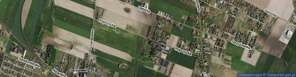 Zdjęcie satelitarne Ropczycka ul.