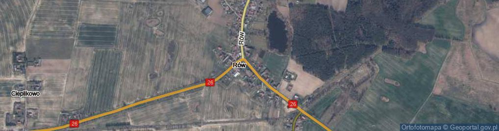 Zdjęcie satelitarne Rów ul.