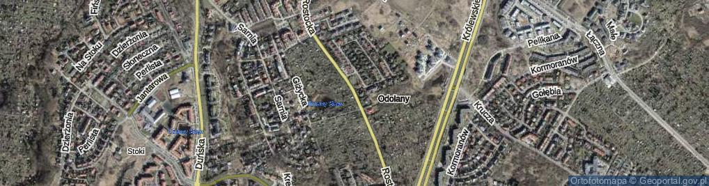 Zdjęcie satelitarne Rostocka ul.