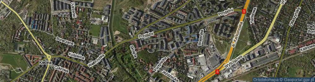 Zdjęcie satelitarne Rodzinna