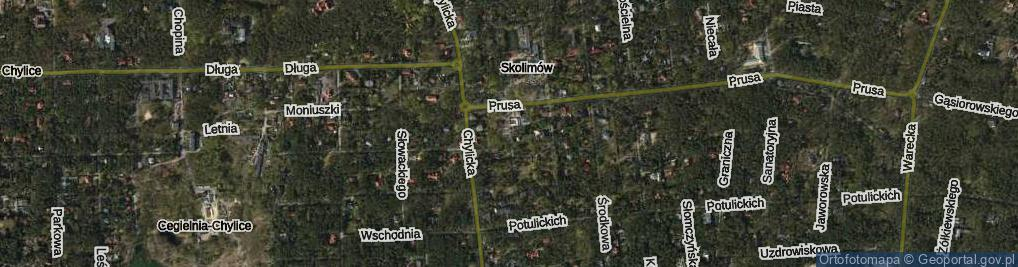 Zdjęcie satelitarne Rycerska