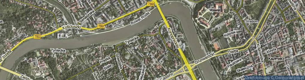 Zdjęcie satelitarne Rynek Dębnicki