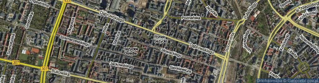 Zdjęcie satelitarne Rynek Jeżycki