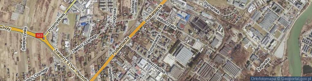 Zdjęcie satelitarne Rymanowska