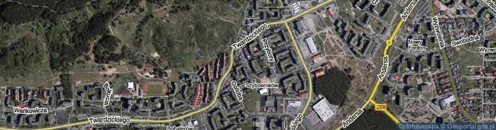 Zdjęcie satelitarne Rzeźniackiego Wojciecha ul.