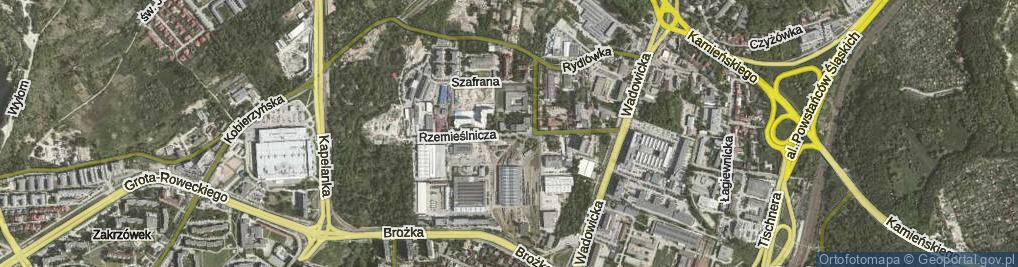 Zdjęcie satelitarne Rzemieślnicza
