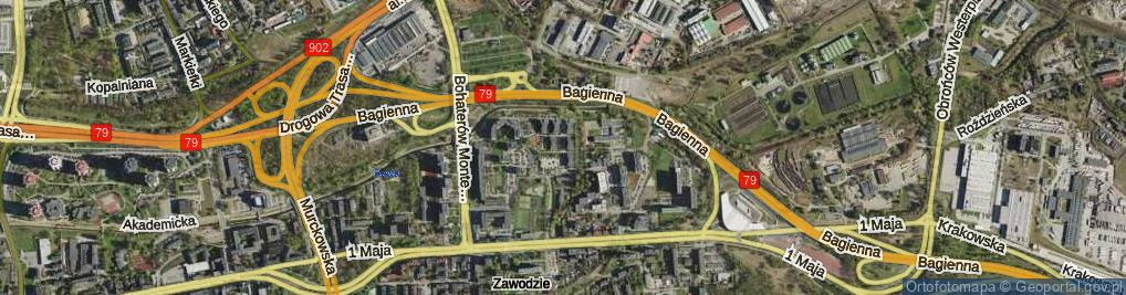 Zdjęcie satelitarne Saint Etienne ul.