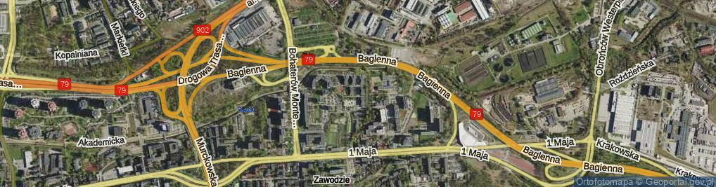 Zdjęcie satelitarne Saint Etienne