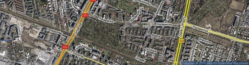 Zdjęcie satelitarne Sąchocka
