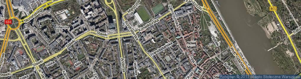 Zdjęcie satelitarne Sapieżyńska