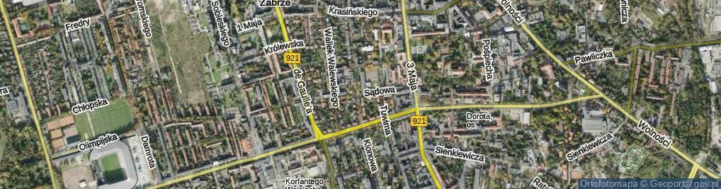 Zdjęcie satelitarne Sądowa