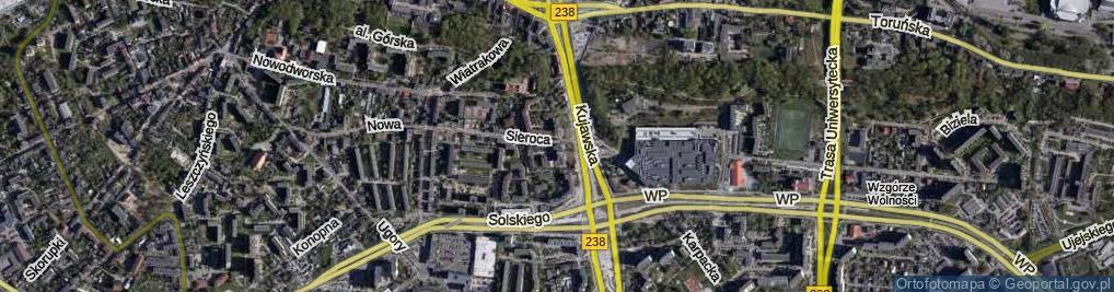 Zdjęcie satelitarne Sieroca ul.