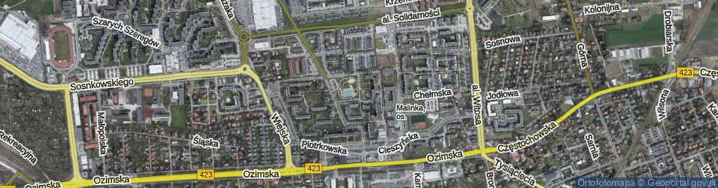Zdjęcie satelitarne Sieradzka