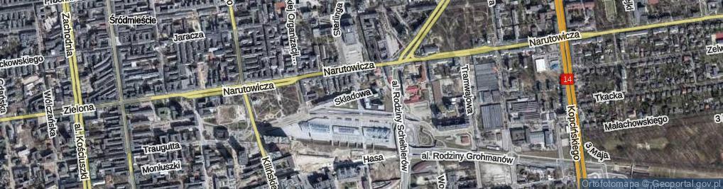 Zdjęcie satelitarne Składowa