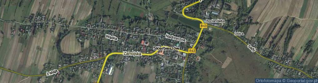 Zdjęcie satelitarne Skierbieszów
