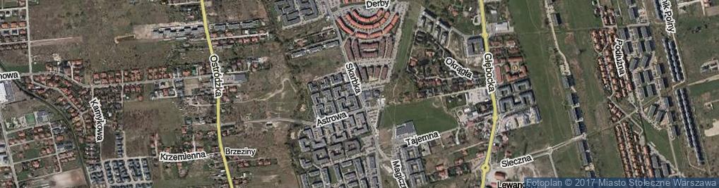 Zdjęcie satelitarne Skarbka z Gór