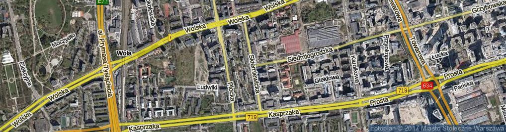 Zdjęcie satelitarne Skierniewicka