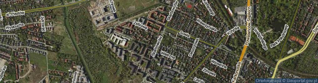Zdjęcie satelitarne Skarbowców