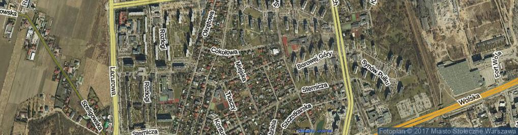Zdjęcie satelitarne Słomiana