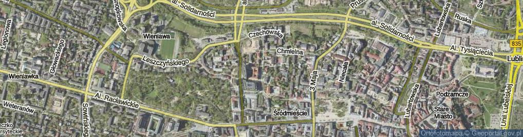 Zdjęcie satelitarne Spokojna