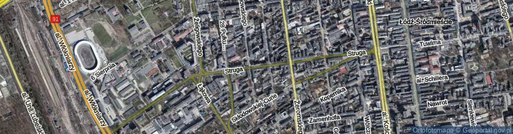 Zdjęcie satelitarne Struga Andrzeja