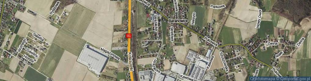 Zdjęcie satelitarne Strażacka