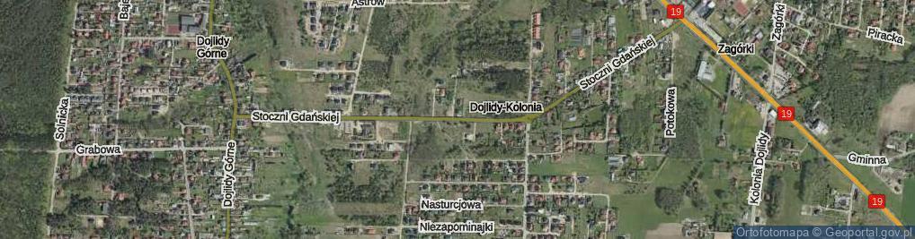 Zdjęcie satelitarne Stoczni Gdańskiej ul.