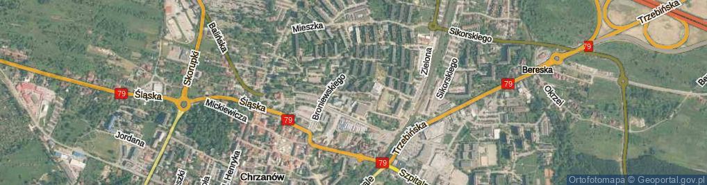 Zdjęcie satelitarne Struga