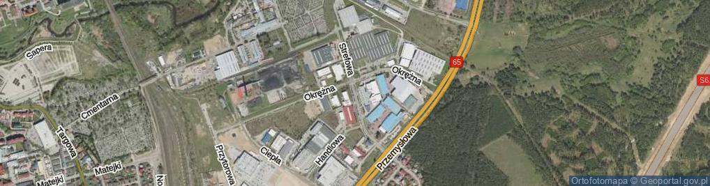 Zdjęcie satelitarne Strefowa