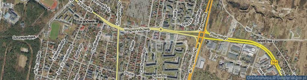Zdjęcie satelitarne Starowapiennikowa ul.