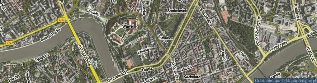 Zdjęcie satelitarne Stradomska