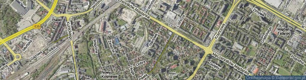 Zdjęcie satelitarne Startowa ul.