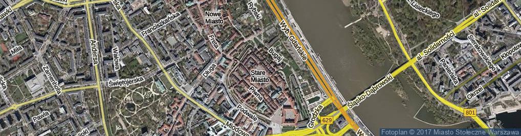 Zdjęcie satelitarne Starego Miasta Rynek