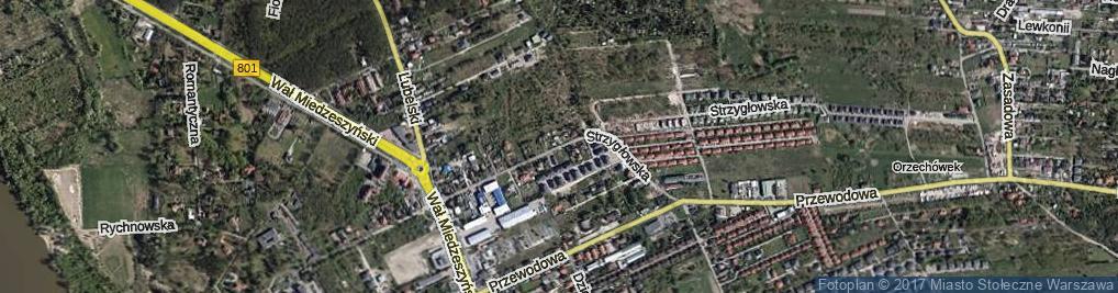 Zdjęcie satelitarne Strzygłowska