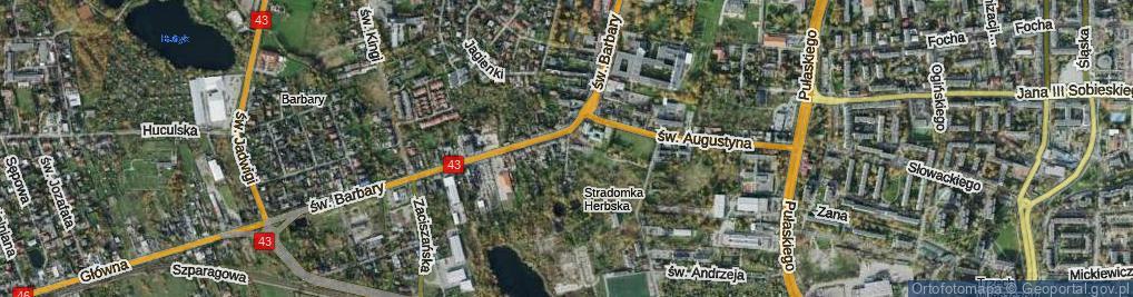 Zdjęcie satelitarne św. Piotra ul.