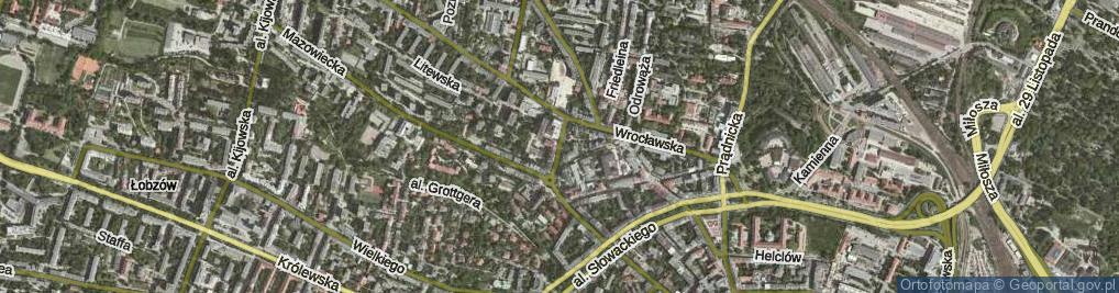 Zdjęcie satelitarne Świętokrzyska