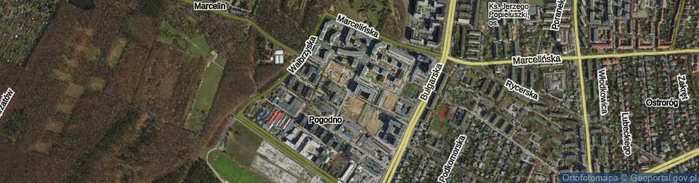Zdjęcie satelitarne Świerzawska
