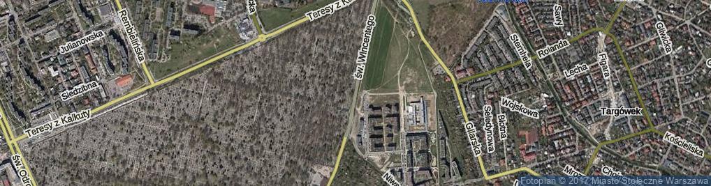 Zdjęcie satelitarne św. Wincentego ul.