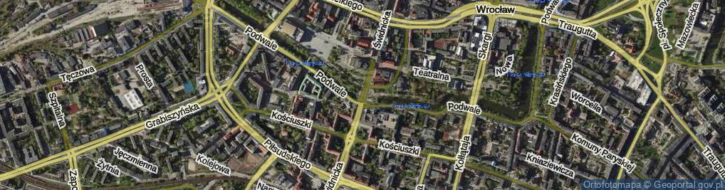 Zdjęcie satelitarne Świdnicka