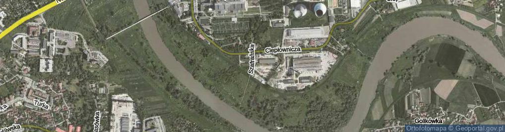 Zdjęcie satelitarne Szafrańska