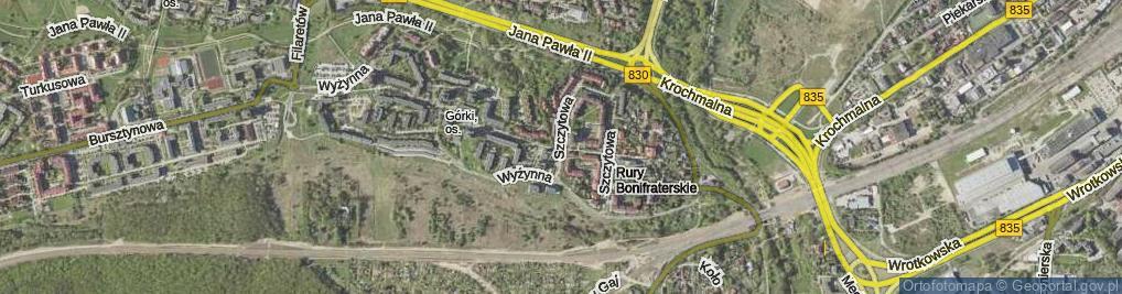 Zdjęcie satelitarne Szczytowa ul.