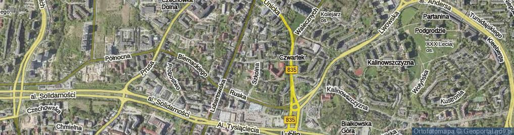Zdjęcie satelitarne Szkolna