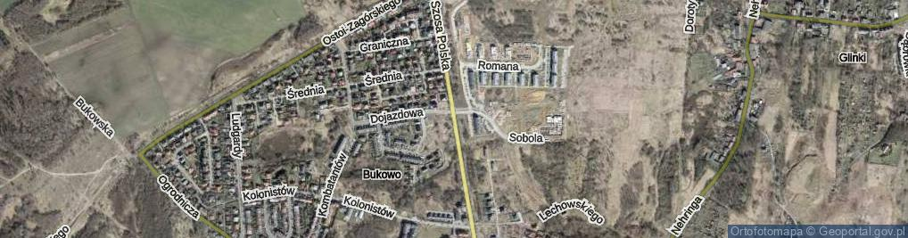 Zdjęcie satelitarne Szosa Polska ul.
