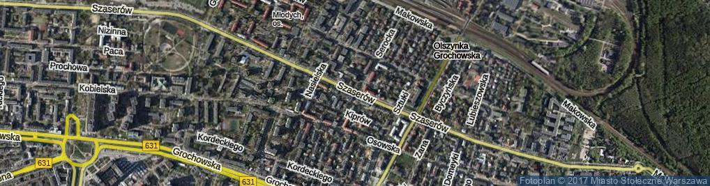 Zdjęcie satelitarne Szaserów