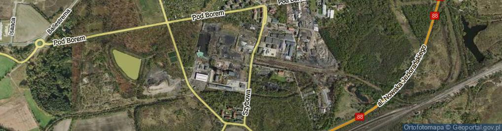 Zdjęcie satelitarne Szybowa